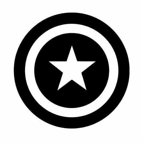 Captain America Shield Vinyl Decal Sticker  Size option will determine the size from the longest side Industry standard high performance calendared vinyl film Cut from Oracle 651 2.5 mil Outdoor durability is 7 years Glossy surface finish
