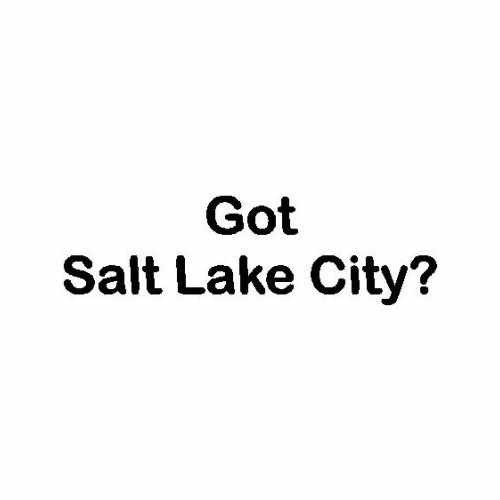 Capital Got Salt Lake City  Vinyl Decal Sticker  Size option will determine the size from the longest side Industry standard high performance calendared vinyl film Cut from Oracle 651 2.5 mil Outdoor durability is 7 years Glossy surface finish