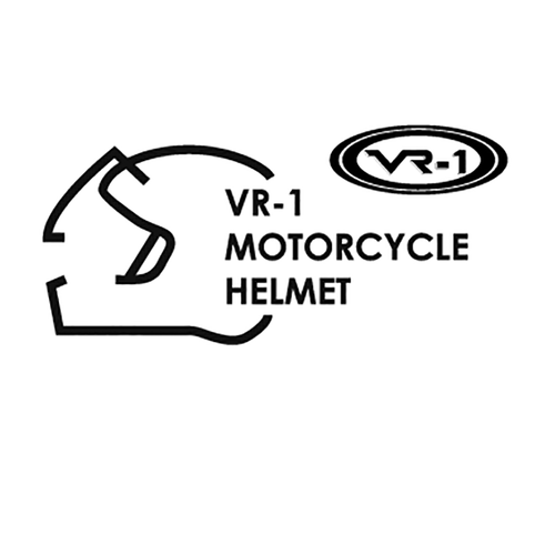 30969 VR 1 helmets Vinyl Decal <div> High glossy, premium 3 mill vinyl, with a life span of 5 – 7 years! </div>