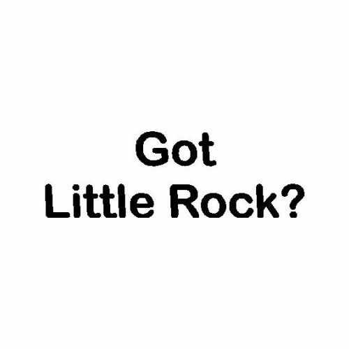 Capital Got Little Rock Ar  Vinyl Decal Sticker  Size option will determine the size from the longest side Industry standard high performance calendared vinyl film Cut from Oracle 651 2.5 mil Outdoor durability is 7 years Glossy surface finish