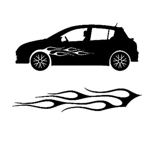 autocollant deco flamme auto 1 Vinyl Decal <div> High glossy, premium 3 mill vinyl, with a life span of 5 – 7 years! </div>
