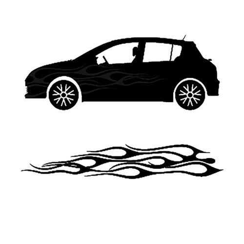 autocollant deco flamme auto 4 Vinyl Decal <div> High glossy, premium 3 mill vinyl, with a life span of 5 – 7 years! </div>