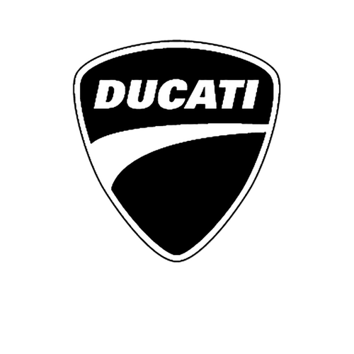 Ducati Logo2 couleurs Vinyl Decal <div> High glossy, premium 3 mill vinyl, with a life span of 5 – 7 years! </div>
