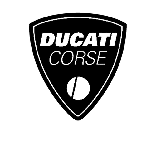 Ducati Logo3 Vinyl Decal <div> High glossy, premium 3 mill vinyl, with a life span of 5 – 7 years! </div>