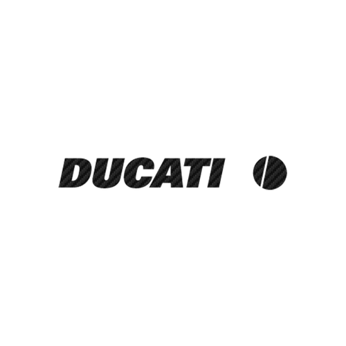 Ducati carbone Vinyl Decal <div> High glossy, premium 3 mill vinyl, with a life span of 5 – 7 years! </div>