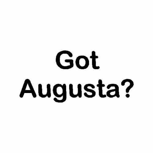 Capital Got Augusta Me  Vinyl Decal Sticker  Size option will determine the size from the longest side Industry standard high performance calendared vinyl film Cut from Oracle 651 2.5 mil Outdoor durability is 7 years Glossy surface finish