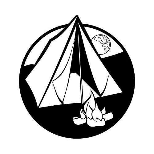 Camping  Vinyl Decal Sticker  Size option will determine the size from the longest side Industry standard high performance calendared vinyl film Cut from Oracle 651 2.5 mil Outdoor durability is 7 years Glossy surface finish