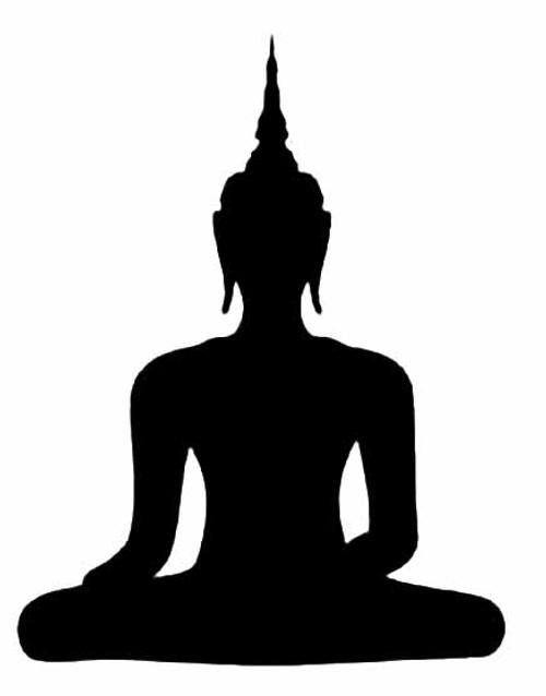 Buddha Silhouette Vinyl Decal