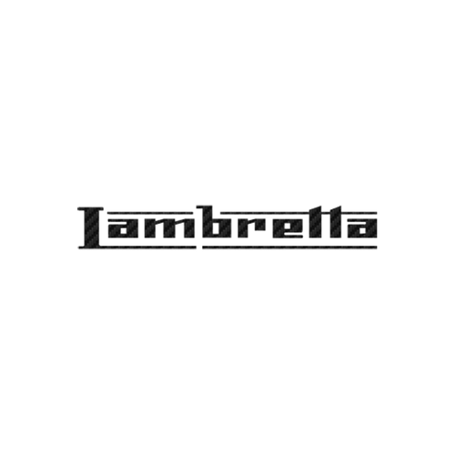 Lambretta carbone Vinyl Decal <div> High glossy, premium 3 mill vinyl, with a life span of 5 – 7 years! </div>