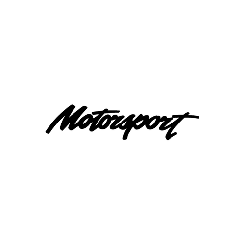 motorsport logo 2 carbone Vinyl Decal <div> High glossy, premium 3 mill vinyl, with a life span of 5 – 7 years! </div>