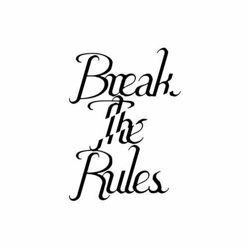 Break The Rules  Vinyl Decal Sticker  Size option will determine the size from the longest side Industry standard high performance calendared vinyl film Cut from Oracle 651 2.5 mil Outdoor durability is 7 years Glossy surface finish
