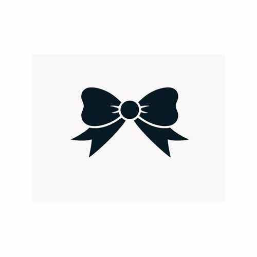 Bow Tie  Vinyl Decal Sticker  Size option will determine the size from the longest side Industry standard high performance calendared vinyl film Cut from Oracle 651 2.5 mil Outdoor durability is 7 years Glossy surface finish