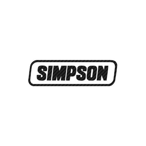 Simpson carbone Vinyl Decal <div> High glossy, premium 3 mill vinyl, with a life span of 5 – 7 years! </div>
