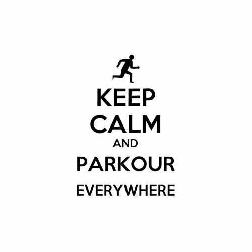 Keep Calm And Parkour Everywhere Vinyl Decal Sticker Size option will determine the size from the longest side Industry standard high performance calendared vinyl film Cut from Oracle 651 2.5 mil Outdoor durability is 7 years Glossy surface finish