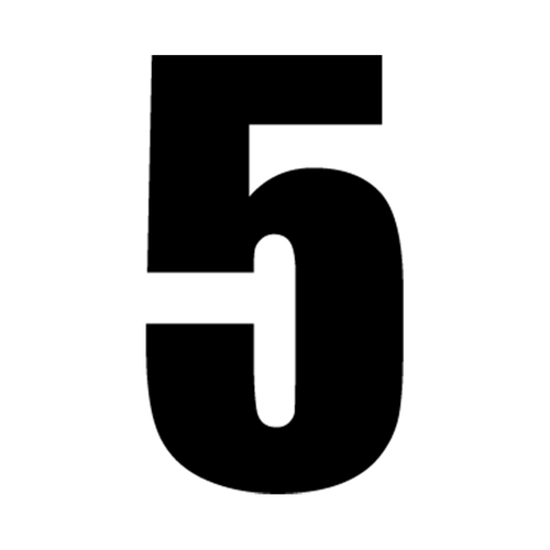5 Vinyl Decal <div> High glossy, premium 3 mill vinyl, with a life span of 5 – 7 years! </div>