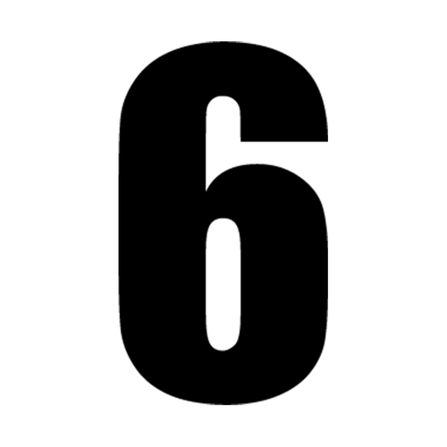 6 Vinyl Decal <div> High glossy, premium 3 mill vinyl, with a life span of 5 – 7 years! </div>