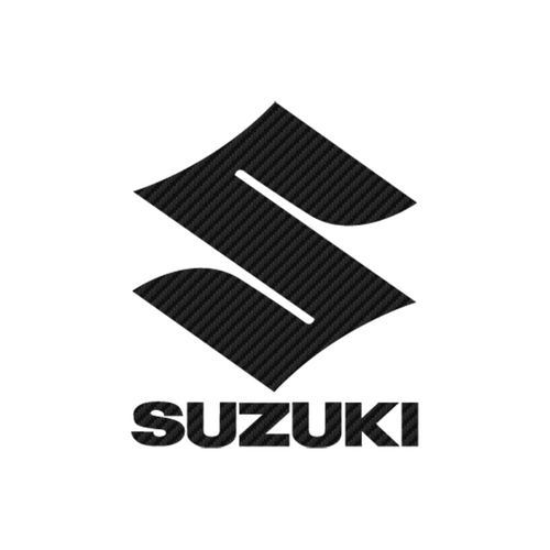 Suzuki Logo 3 carbone Vinyl Decal <div> High glossy, premium 3 mill vinyl, with a life span of 5 – 7 years! </div>