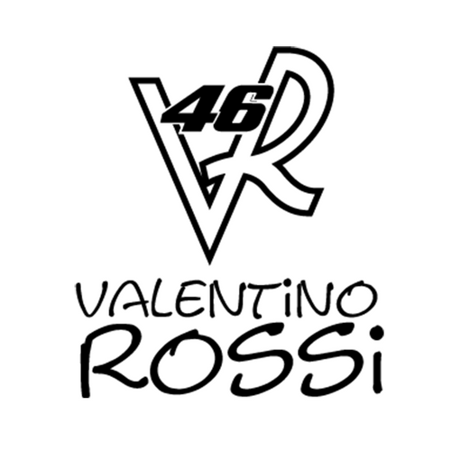Valentino Rossi 46 B Vinyl Decal <div> High glossy, premium 3 mill vinyl, with a life span of 5 – 7 years! </div>