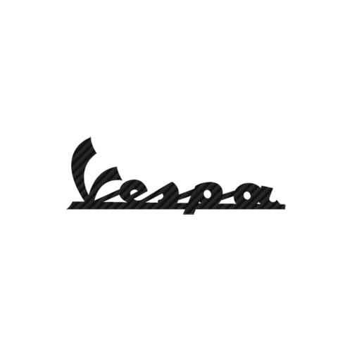 Vespa carbone Vinyl Decal <div> High glossy, premium 3 mill vinyl, with a life span of 5 – 7 years! </div>