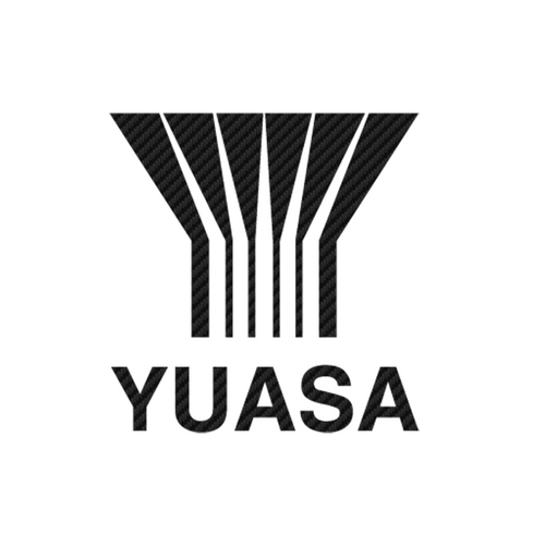 Yuasa 3 carbone Vinyl Decal <div> High glossy, premium 3 mill vinyl, with a life span of 5 – 7 years! </div>
