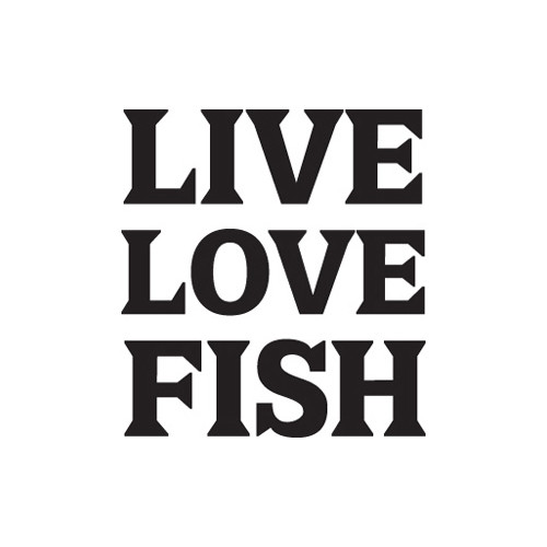 Live Love Fish Vinyl Decal High glossy, premium 3 mill vinyl, with a life span of 5 - 7 years!