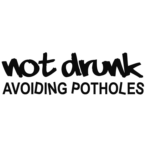 Not Drunk Avoiding Potholes Vinyl Decal High glossy, premium 3 mill vinyl, with a life span of 5 - 7 years!