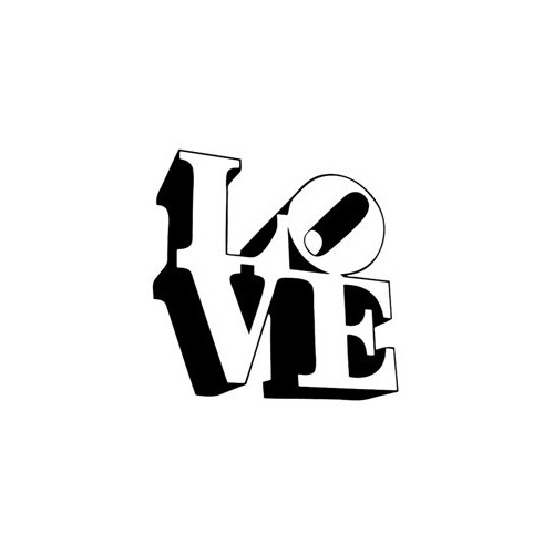 Saying love block  decal High glossy, premium 3 mill vinyl, with a life span of 5 - 7 years!