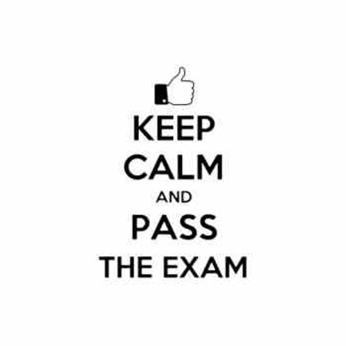 Saying keep calm and pass the exam  decal High glossy, premium 3 mill vinyl, with a life span of 5 - 7 years!