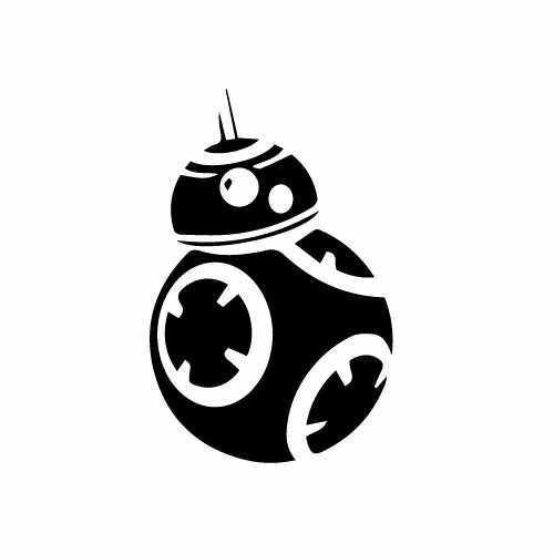Bb 8 Vinyl Decal Sticker  Size option will determine the size from the longest side Industry standard high performance calendared vinyl film Cut from Oracle 651 2.5 mil Outdoor durability is 7 years Glossy surface finish
