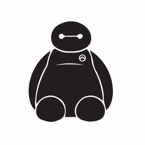 Baymax Sitting Vinyl Decal Sticker  Size option will determine the size from the longest side Industry standard high performance calendared vinyl film Cut from Oracle 651 2.5 mil Outdoor durability is 7 years Glossy surface finish