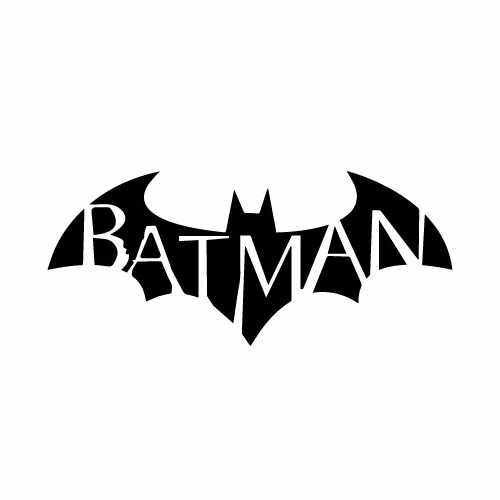 Batman W_Font Vinyl Decal Sticker  Size option will determine the size from the longest side Industry standard high performance calendared vinyl film Cut from Oracle 651 2.5 mil Outdoor durability is 7 years Glossy surface finish