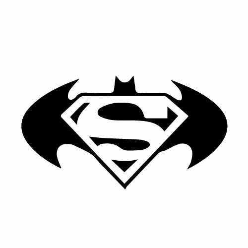 Batman Vs. Superman Vinyl Decal Sticker  Size option will determine the size from the longest side Industry standard high performance calendared vinyl film Cut from Oracle 651 2.5 mil Outdoor durability is 7 years Glossy surface finish