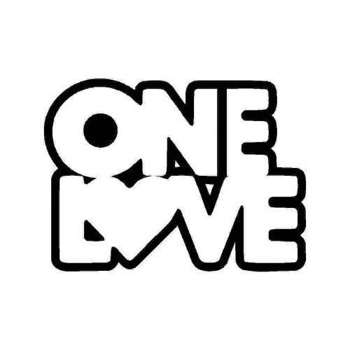 Saying  one love heart decal High glossy, premium 3 mill vinyl, with a life span of 5 - 7 years!
