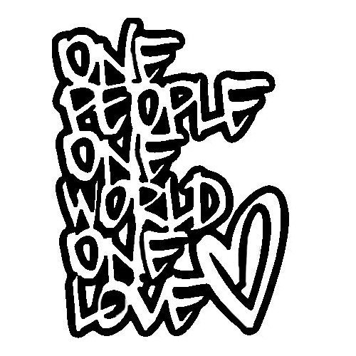Saying one love decal High glossy, premium 3 mill vinyl, with a life span of 5 - 7 years!