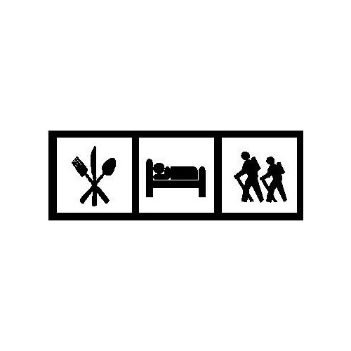 Saying eat sleep hike decal High glossy, premium 3 mill vinyl, with a life span of 5 - 7 years!