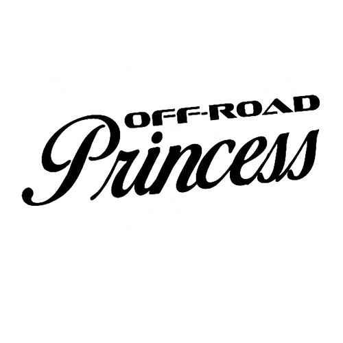 Off Road Princess Vinyl Decal High glossy, premium 3 mill vinyl, with a life span of 5 - 7 years!
