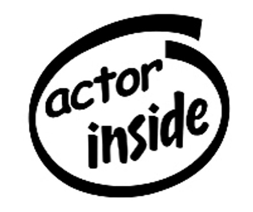 Actor Inside Vinyl Decal High glossy, premium 3 mill vinyl, with a life span of 5 - 7 years!