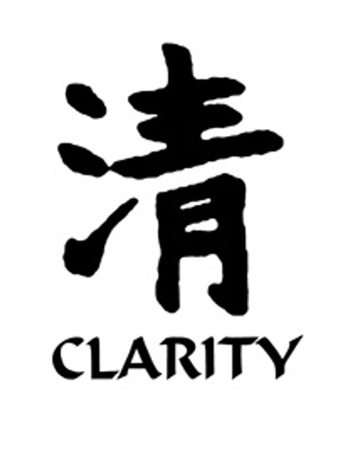 Clarity Kanji Symbol Vinyl Decal High glossy, premium 3 mill vinyl, with a life span of 5 - 7 years!
