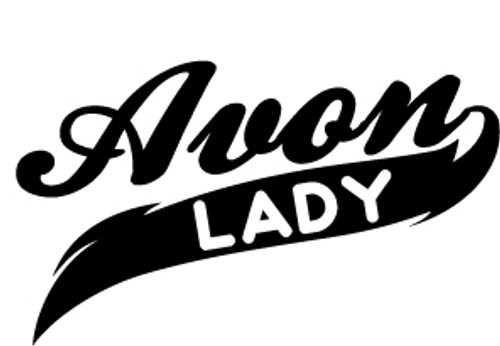Avon Lady Vinyl Decal High glossy, premium 3 mill vinyl, with a life span of 5 - 7 years!