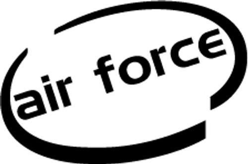 Air Force Oval Vinyl Decal High glossy, premium 3 mill vinyl, with a life span of 5 - 7 years!