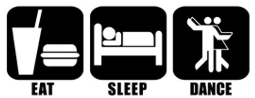 Eat Sleep Dance Vinyl Decal High glossy, premium 3 mill vinyl, with a life span of 5 - 7 years!