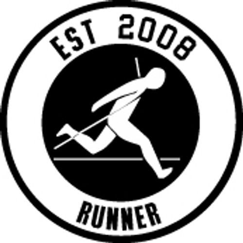 EST. Runner (Your Year) Vinyl Decal High glossy, premium 3 mill vinyl, with a life span of 5 - 7 years!