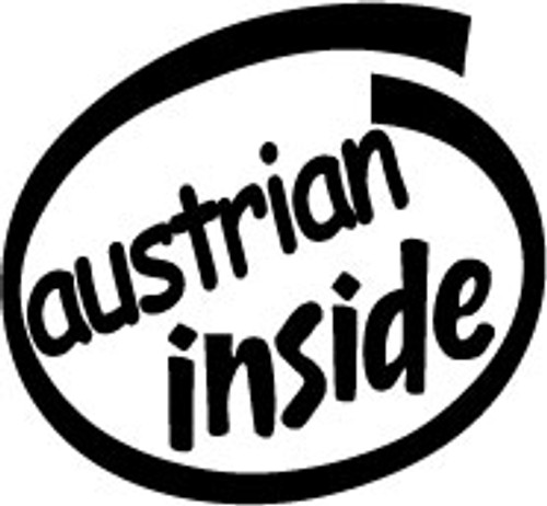 Austrian Inside Vinyl Decal High glossy, premium 3 mill vinyl, with a life span of 5 - 7 years!