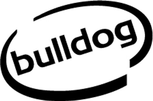 Bulldog Oval Vinyl Decal High glossy, premium 3 mill vinyl, with a life span of 5 - 7 years!