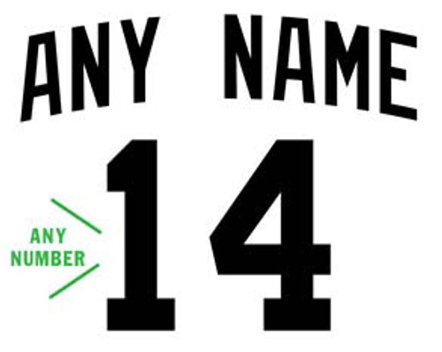 Custom JERSEY NAME & NUMBER Vinyl Decal High glossy, premium 3 mill vinyl, with a life span of 5 - 7 years!