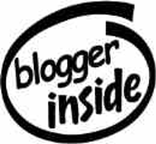 Blogger Inside Vinyl Decal High glossy, premium 3 mill vinyl, with a life span of 5 - 7 years!