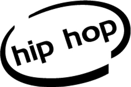 Hip Hop Oval Vinyl Decal High glossy, premium 3 mill vinyl, with a life span of 5 - 7 years!