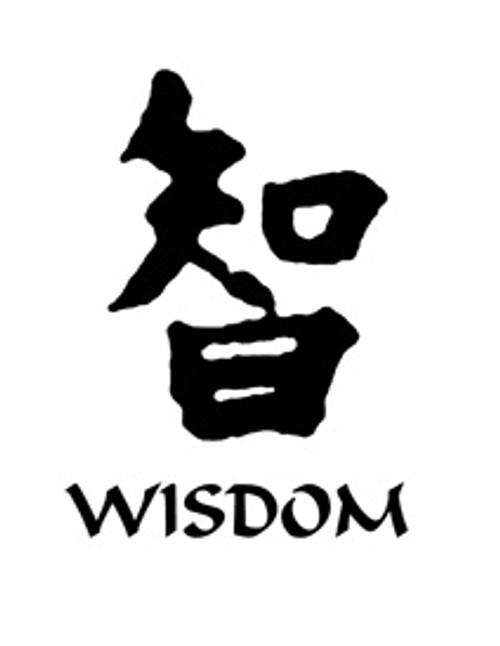 Wisdom Kanji Symbol Vinyl Decal High glossy, premium 3 mill vinyl, with a life span of 5 - 7 years!