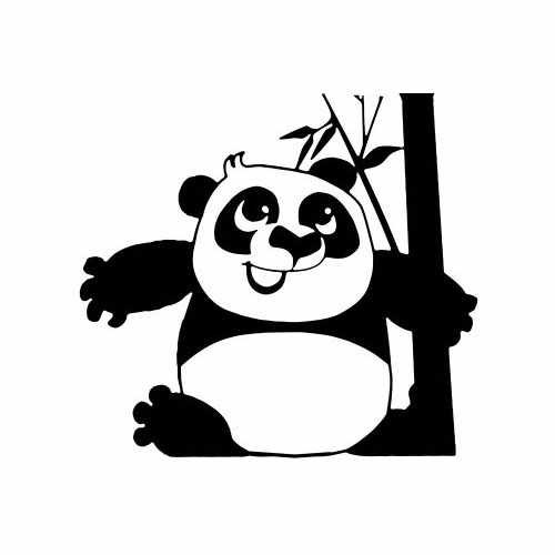 Baby Kung Fu Panda  Vinyl Decal Sticker  Size option will determine the size from the longest side Industry standard high performance calendared vinyl film Cut from Oracle 651 2.5 mil Outdoor durability is 7 years Glossy surface finish