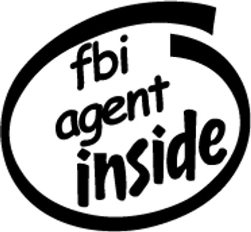 FBI Agent Inside Vinyl Decal High glossy, premium 3 mill vinyl, with a life span of 5 - 7 years!